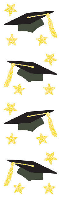 Grad Cap, Reflections Stickers - Mrs. Grossman's