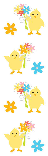 Scene One Spring Chick , stickers, Mrs. Grossman's Sticker Factory