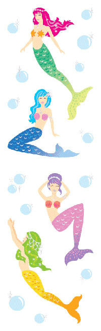 Mermaids, stickers, Mrs. Grossman's Sticker Factory