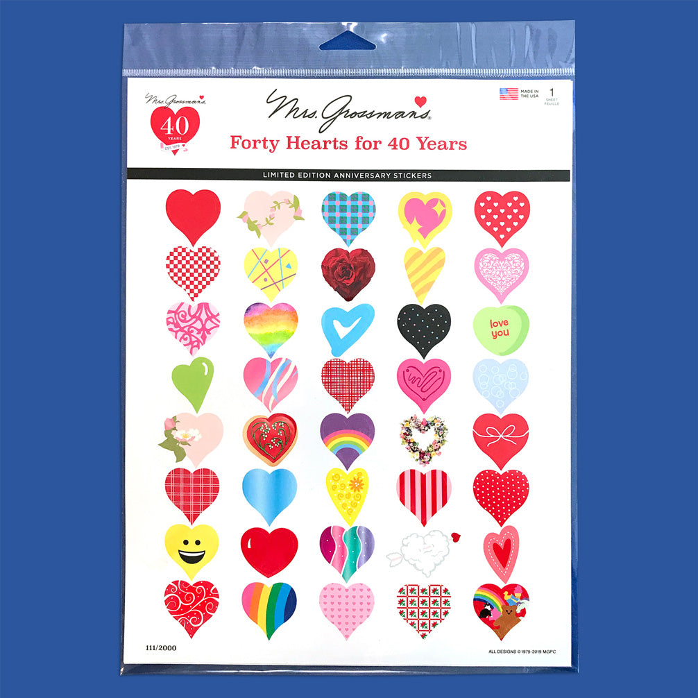 Forty Hearts for 40 Years - Mrs. Grossman's