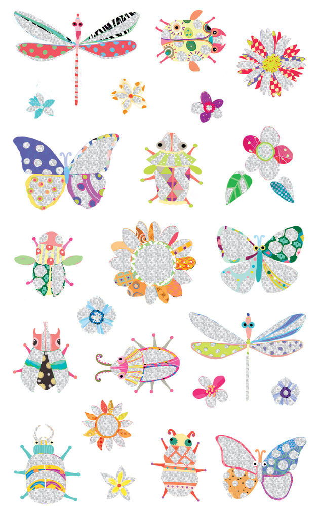 Turnowsky, bugs butterflies and fireflies, stickers, Mrs. Grossman's Sticker Factory