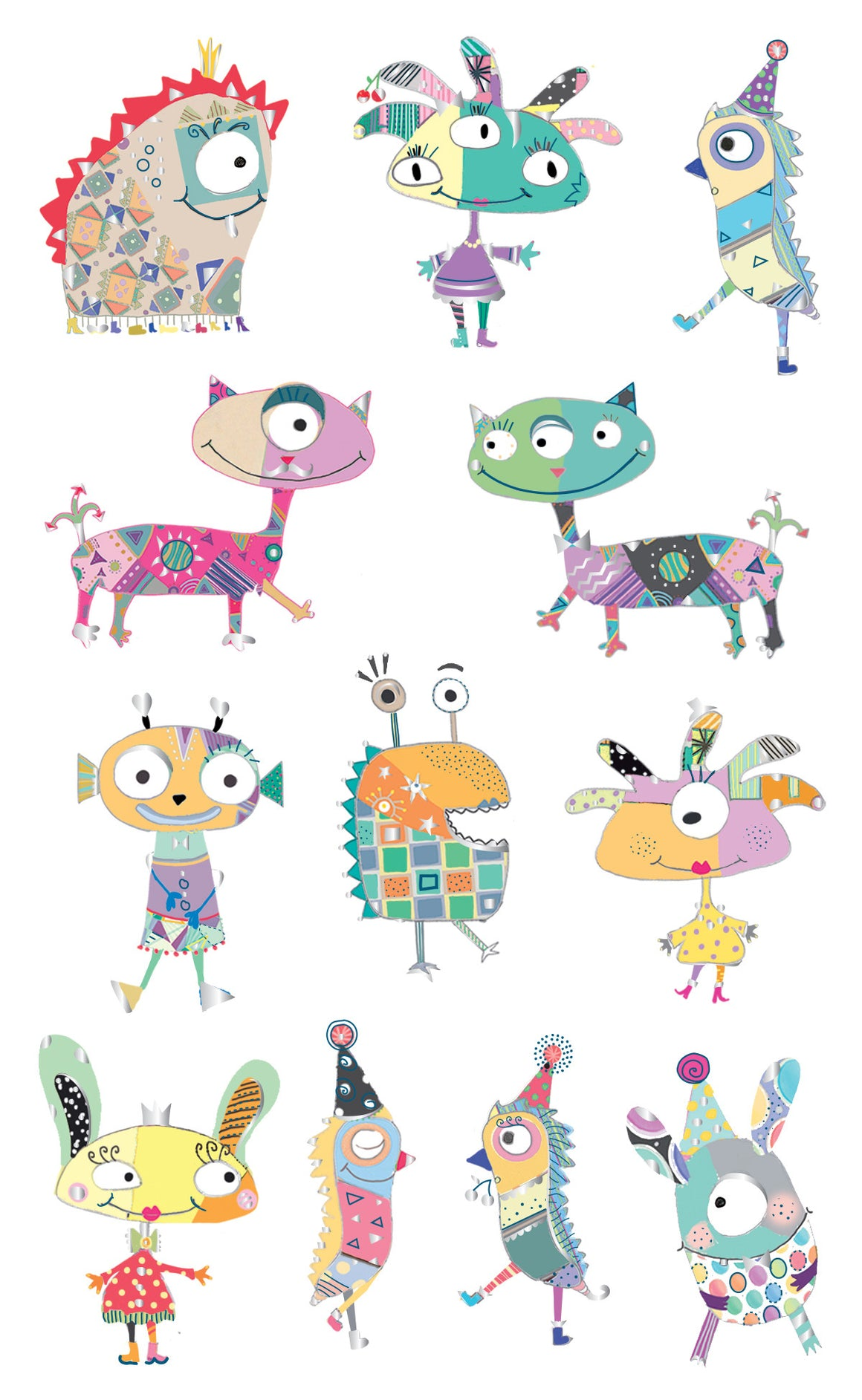 Turnowsky marvelous monsters, stickers, Mrs. Grossman's Sticker Factory