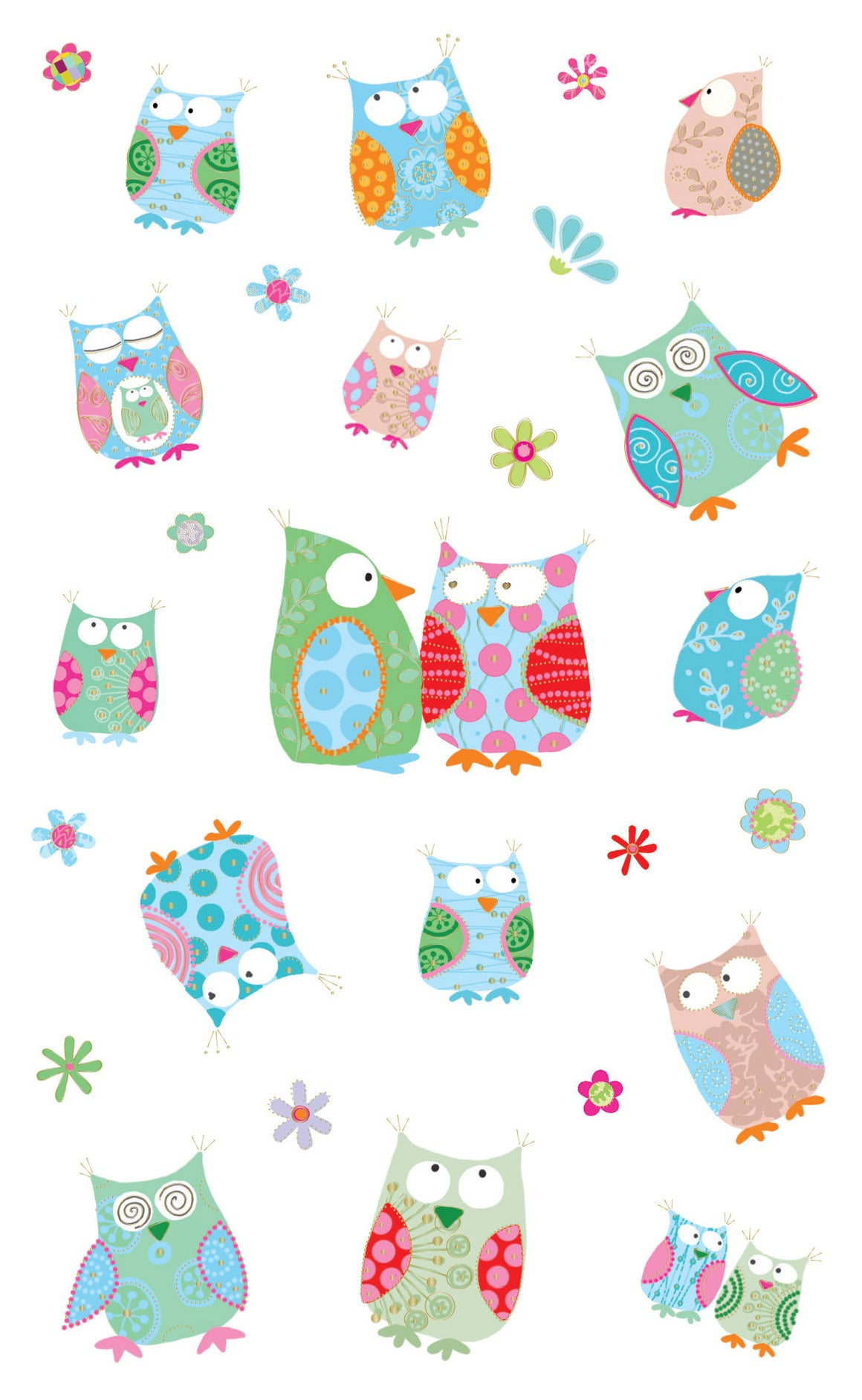 Turnowsky Wise Little Owls, Reflections Stickers - Mrs. Grossman's