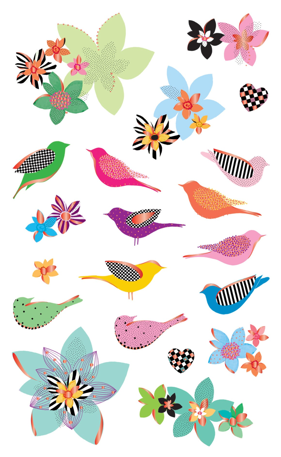 Turnowsky, feathered friends, stickers, Mrs. Grossman's Sticker Factory