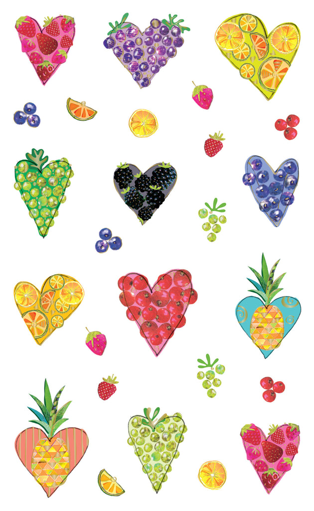 Turnowsky fruitful hearts, stickers, Mrs. Grossman's Sticker Factory