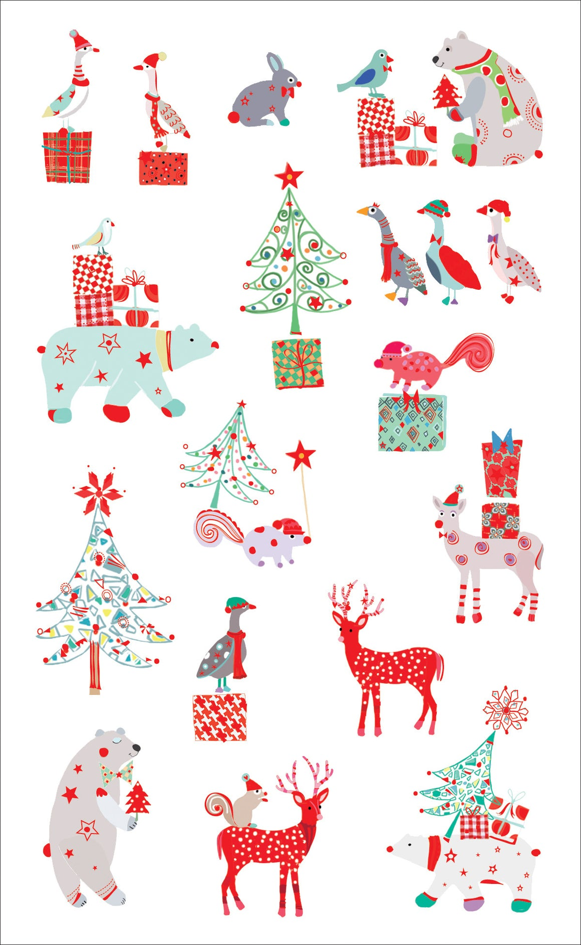 Turnowsky Holiday Friends, Reflections Stickers - Mrs. Grossman's