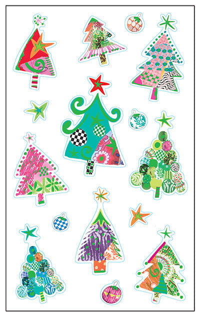 Turnowsky, Christmas trees, stickers, Mrs. Grossman's Sticker Factory