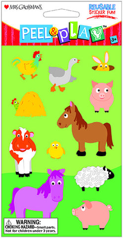 "Peel & Play 4"" Strip-Barnyard"