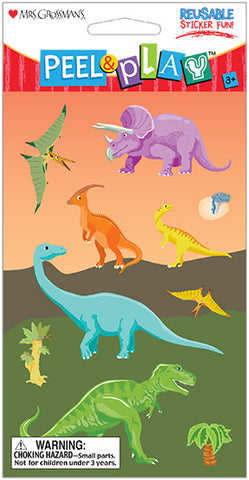 "Peel & Play 4"" Strip-Dinosaurs"