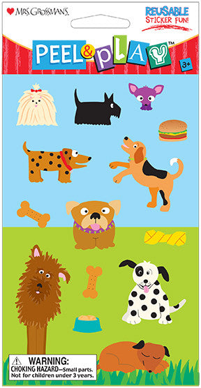 "Peel & Play 4"" Strip-Dogs Stickers - Mrs. Grossman's"