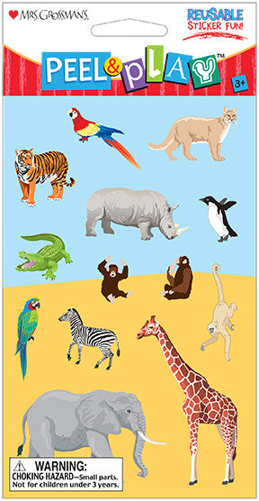 "Peel & Play 4"" Strip-Zoo Stickers - Mrs. Grossman's"