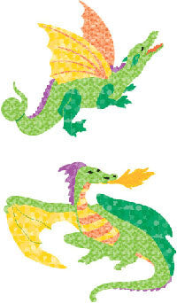 Dragon , sticker, Mrs. Grossman's Stickers