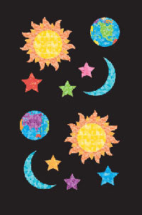 Sun, Moon & Stars, stickers, Mrs. Grossman's Sticker Factory