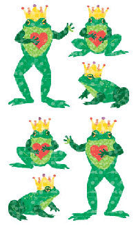 Frog Prince , sticker, Mrs. Grossman's stickers