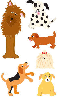 Playful Dogs, sticker, Mrs. Grossman's Stickers