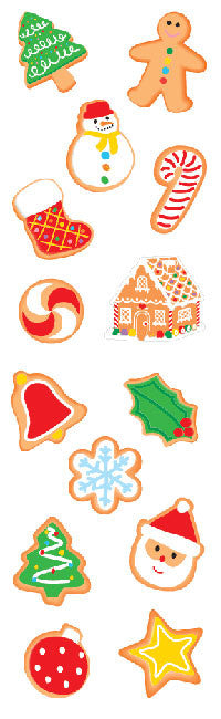 Christmas Cookies, sm, sticker, Mrs. Grossman's Stickers