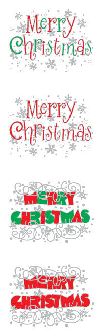 expressions merry christmas reflections stickers mrs grossmans - Merry Christmas Stickers