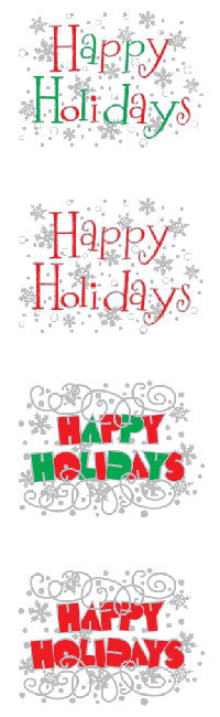 Expressions Happy Holidays, sticker, Mrs. Grossman's Stickers