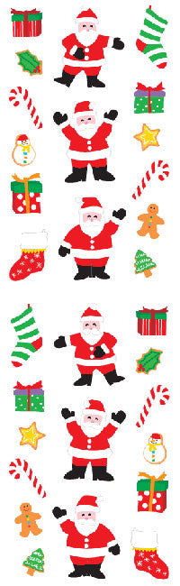 Santa and Things, stickers, Mrs. Grossman's Sticker Factory