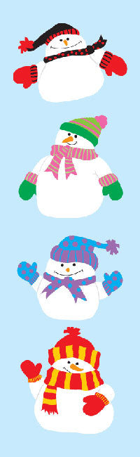 Happy Snowmen, sticker, Mrs. Grossman's stickers