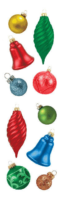 Christmas Ornaments, sticker, Mrs. Grossman's Stickers