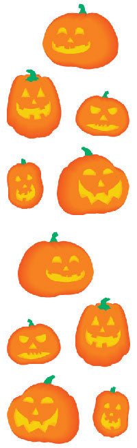 Halloween Pumpkins, sticker, Mrs. Grossman's stickers