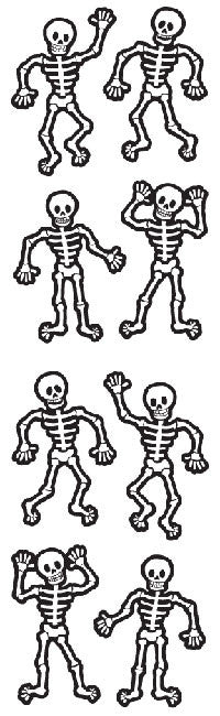 Skeletons, stickers, Mrs. Grossman's Sticker Factory