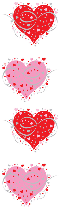 Fancy Heart, Reflections Stickers - Mrs. Grossman's