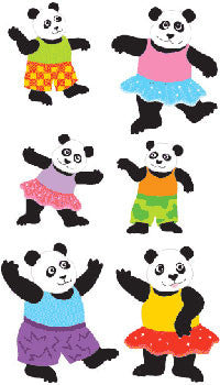 Playful Pandas, sticker, Mrs. Grossman's Stickers