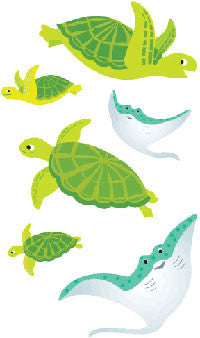 Playful Turtles & Friends, stickers, Mrs. Grossman's Sticker Factory