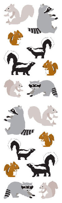 Playful Woodland Pals, stickers, Mrs. Grossman's Sticker Factory