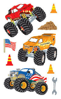 Monster Trucks, stickers, Mrs. Grossman's Sticker Factory
