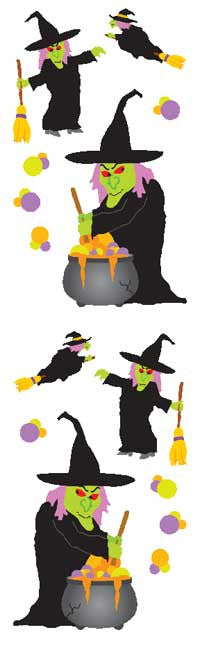 Witchy Witch, sticker, Mrs. Grossman's Stickers