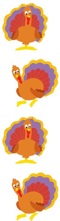 Turkey Gobble Gobble, sticker, Mrs. Grossman's stickers
