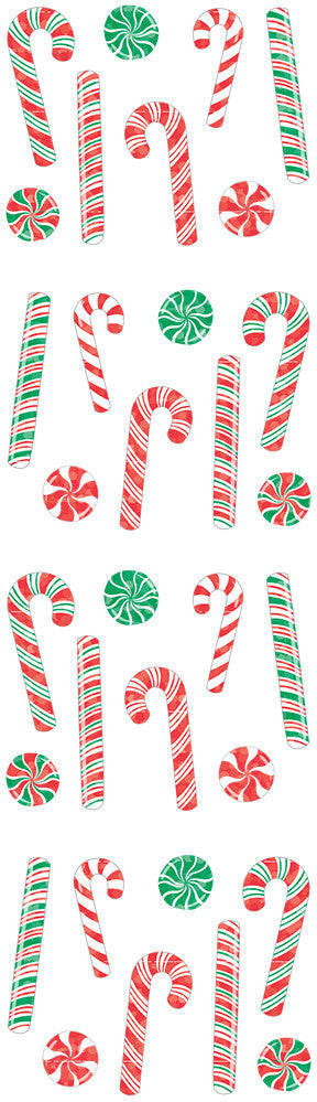 Holiday Candies, sparkle Stickers - Mrs. Grossman's
