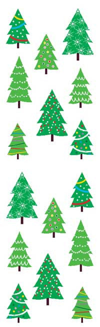 Christmas tree farm, sparkle, sticker, Mrs. Grossman's Stickers