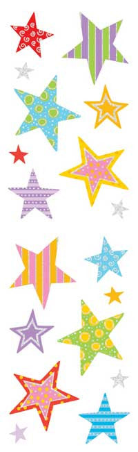stars, sticker, Mrs. Grossman's Stickers