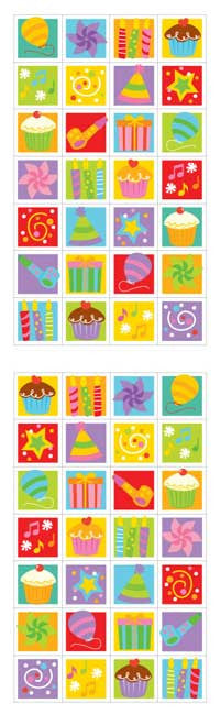 birthday blocks, sticker, Mrs. Grossman's Stickers