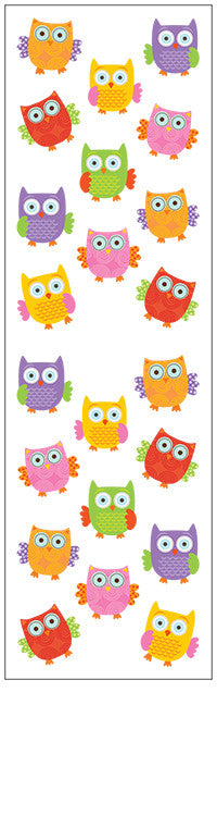 Forest Owls, sticker, Mrs. Grossman's stickers