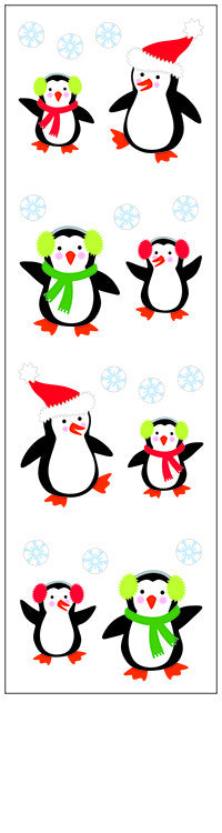 christmas penguins, sticker, Mrs. Grossman's Stickers