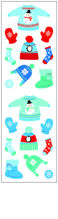 Winter gear, stickers, Mrs. Grossman's Sticker Factory