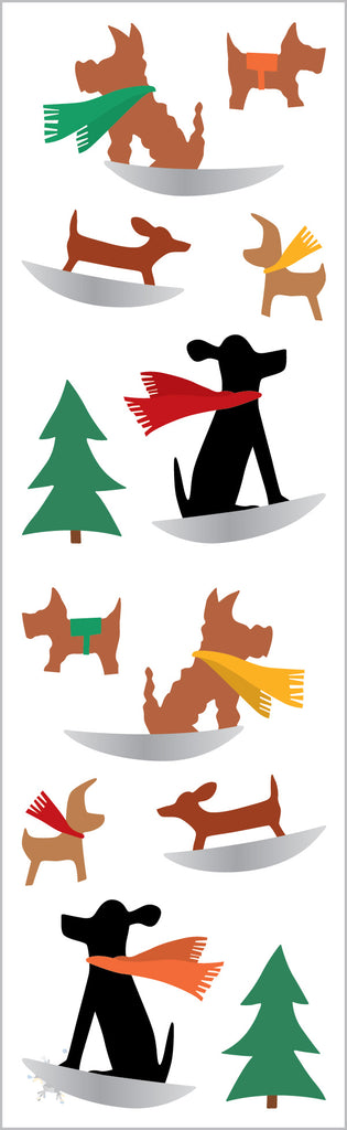 Winter Dog Fun Stickers