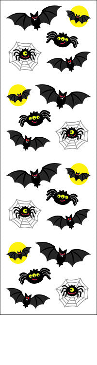 Bats & Spiders, sticker, Mrs. Grossman's Stickers