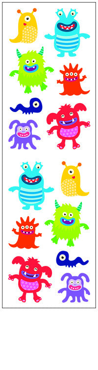 little monsters, stickers, Mrs. Grossman's Sticker Factory