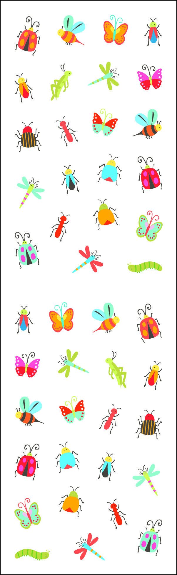 Bugs, micro, reflections, sticker, Mrs. Grossman's Stickers