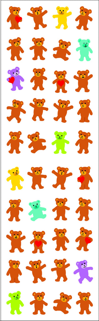 Bears, micro, Sparkle Stickers - Mrs. Grossman's