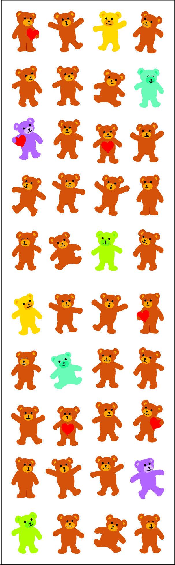 Bears, micro, sparkle, sticker, Mrs. Grossman's Stickers