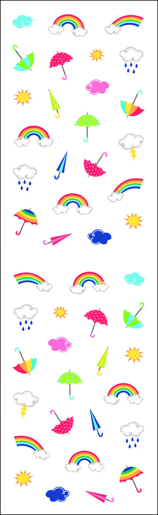 clouds and rain, micro, sticker, Mrs. Grossman's Stickers