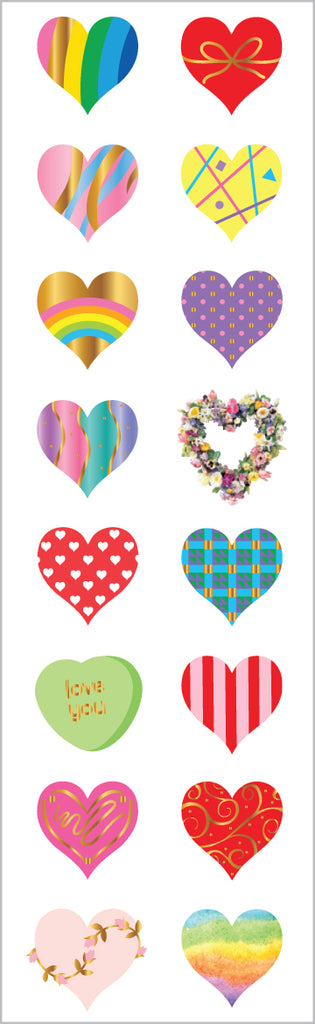 Limited Edition 40th Anniversary Hearts, Foil - Mrs. Grossman's