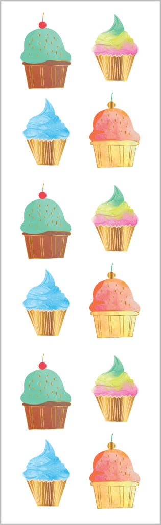 Limited Edition Watercolor Cupcakes, Foil - Mrs. Grossman's